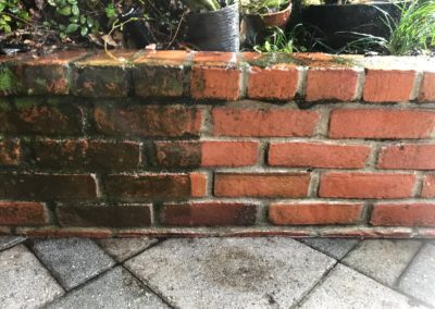 brick pressure washing