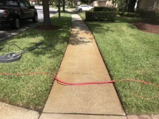 sidewalk rust removal